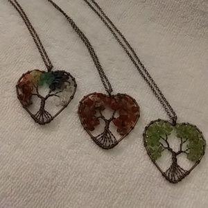 Jewelry - Heart chakra tree of life
